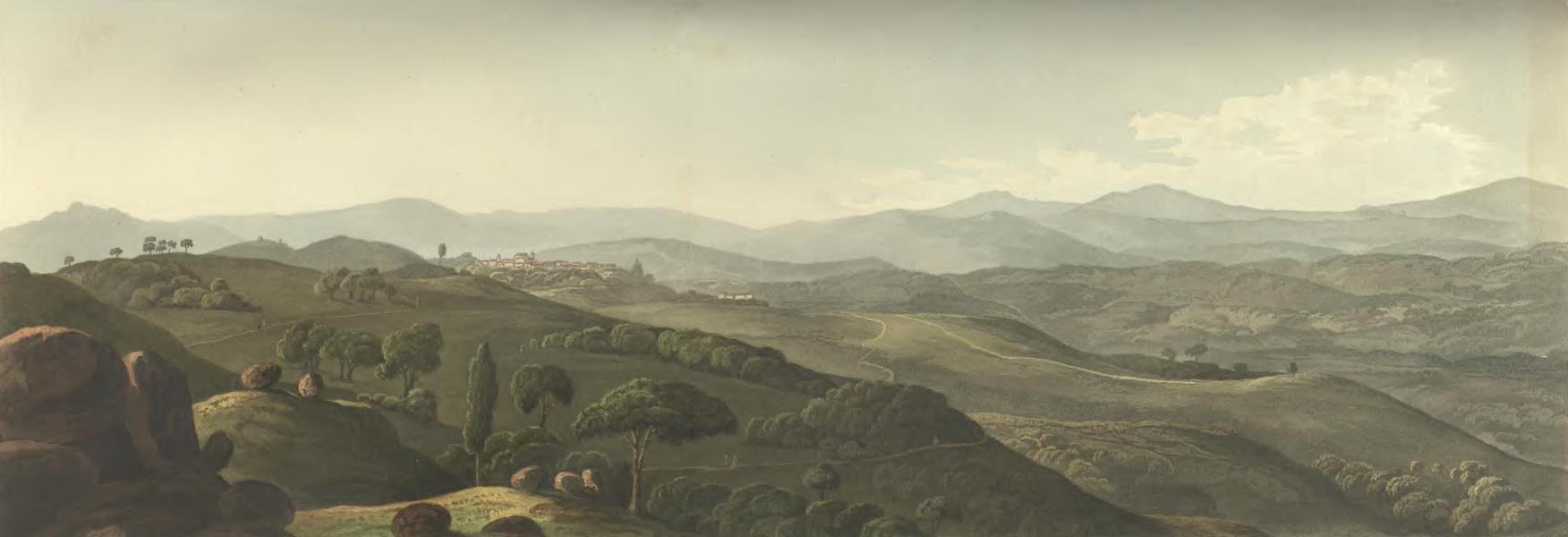 Historical, Military, and Picturesque Observations on Portugal Vol. 2 - Penafiel de Lousa from the East Entre Douro e Minho (1818)
