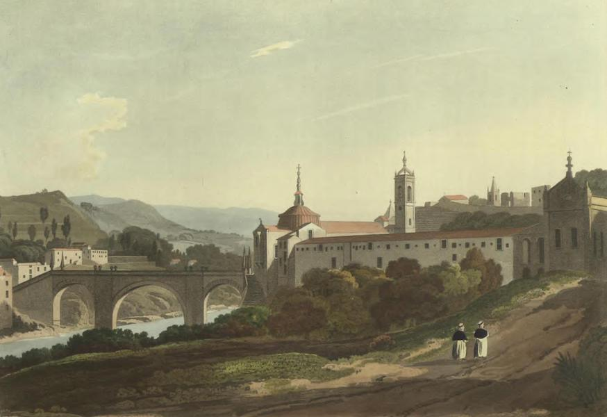 Historical, Military, and Picturesque Observations on Portugal Vol. 2 - Amarante and Bridge, from the Convent of San Domingo: Entre Douro-e-Minho (1818)