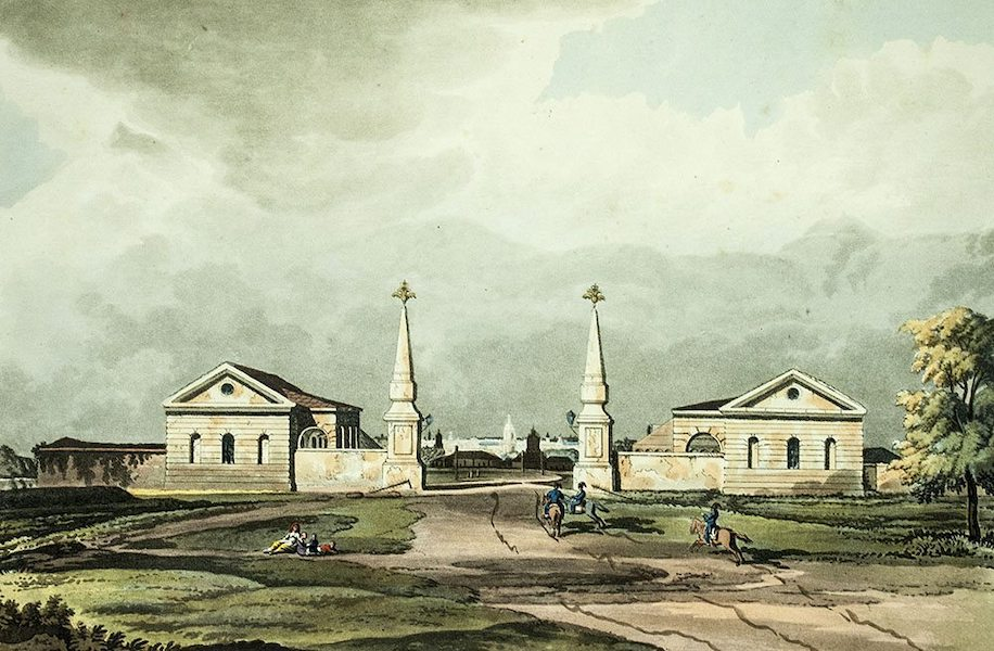 Historical Sketch of Moscow - View of the Entrance to Moscow, from Volodemer (1813)