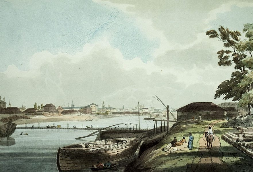 Historical Sketch of Moscow - View of the City of Moscow, from the banks of the Mosqua, & near the Convent of Spas na Novoi (1813)
