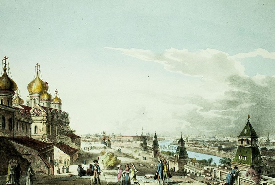 Historical Sketch of Moscow - View of Moscow, taken from the Imperial Palace (1813)
