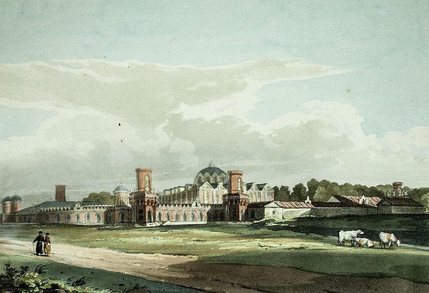 Historical Sketch of Moscow - View of the Palace of Petrovski (1813)