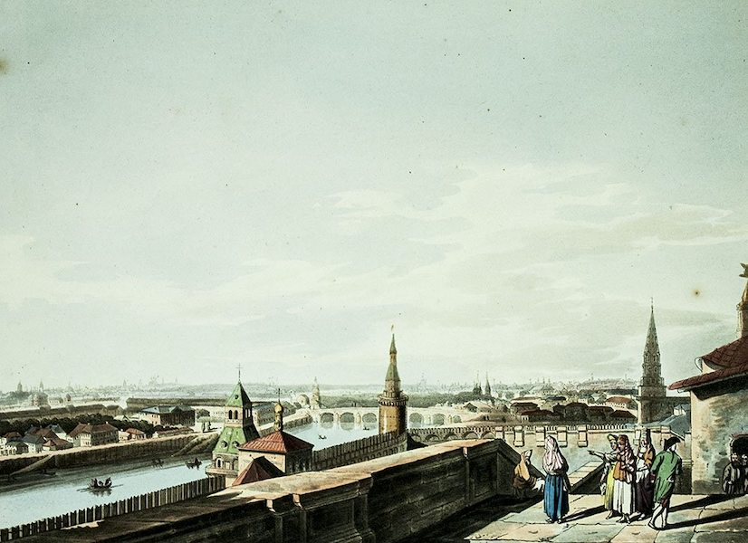 Historical Sketch of Moscow - View of Moscow, taken from the Balcony of the Imperial Palace (1813)