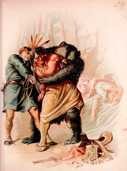 Historical Stories of American Pioneer Life - The Last of the Mohicans - Hawkeye and the Bear take the Fox Prisoner (1897)