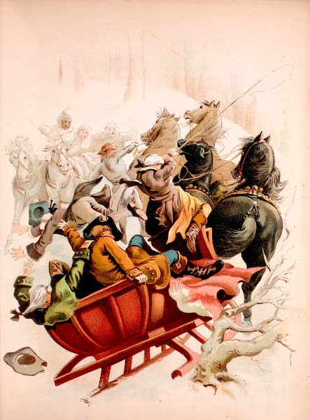 Historical Stories of American Pioneer Life - The Pioneers - The Young Hunter Saved the Sleigh from its Danger (1897)