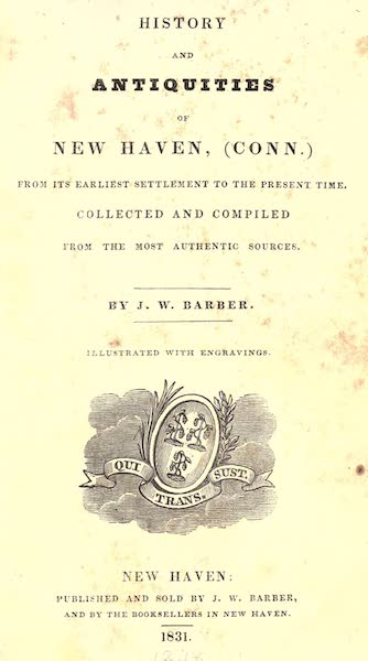 History and Antiquities of New Haven - Title Page (1831)