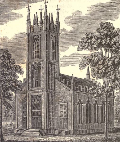History and Antiquities of New Haven - Trinity Church, New Haven (1831)