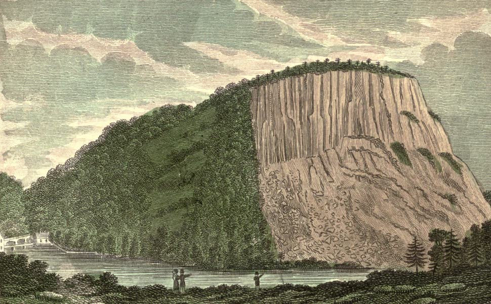 History and Antiquities of New Haven - W. Side of the East Rock near New Haven, Con. (1831)