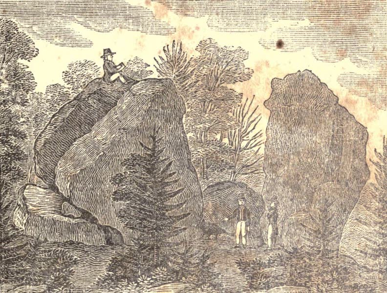 History and Antiquities of New Haven - South View of the Judge's Cave (1831)