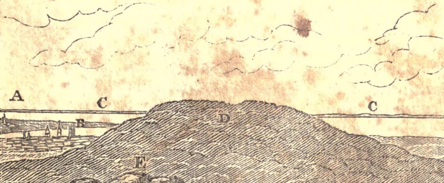 History and Antiquities of New Haven - View from the Top of the Judge's Cave (1831)