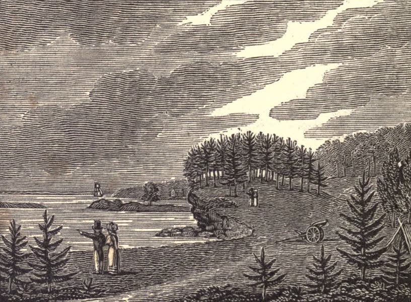 History and Antiquities of New Haven - North View of Savin Rock (1831)