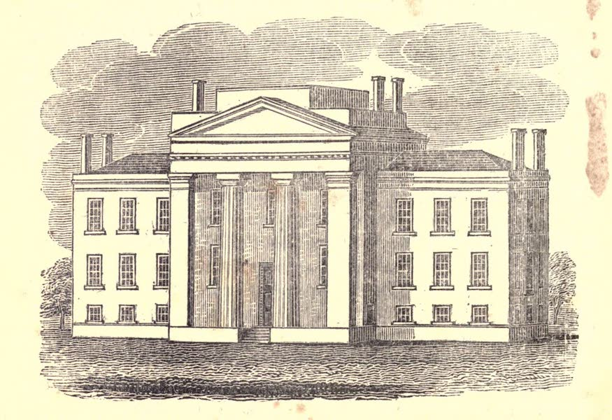 History and Antiquities of New Haven - View of the General Hospital of Connecticut (1831)
