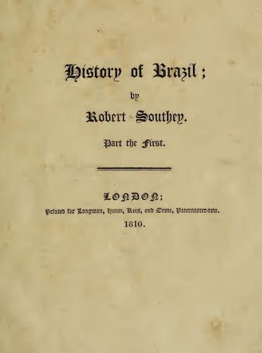 History of Brazil Vol. 1 (1810)