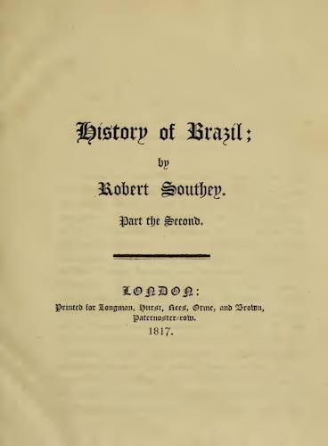 History of Brazil Vol. 2 (1817)