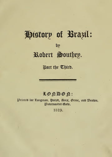 History of Brazil Vol. 3 (1819)