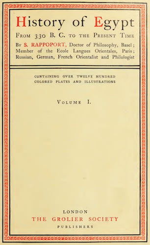 English - History of Egypt, Chaldea, Syria, Babylonia and Assyria Vol. 10