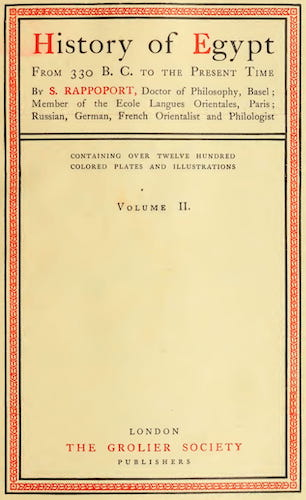 Ancient History - History of Egypt, Chaldea, Syria, Babylonia and Assyria Vol. 11