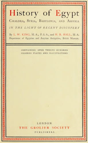 History of Egypt, Chaldea, Syria, Babylonia and Assyria Vol. 13 (1904)