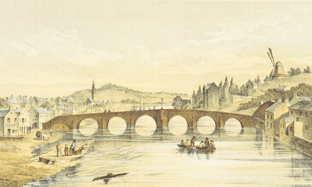 History of the Burgh of Dumfries - Dumfries Fifty Years Ago from the New Bridge Looking South (1873)