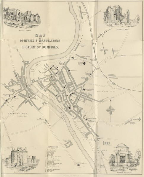 History of the Burgh of Dumfries - Map of Dumfries and Maxwelltown (1873)