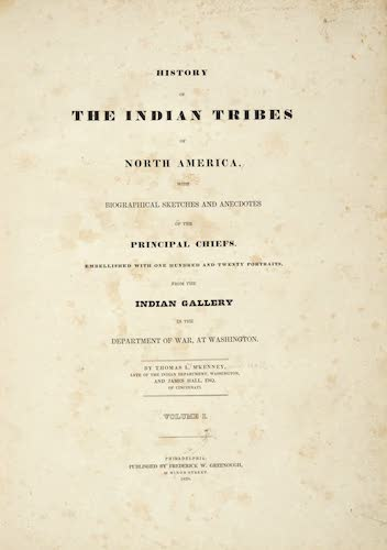 Aquatint & Lithography - History of the Indian Tribes of North America Vol. 1