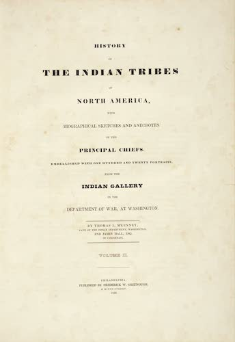 Aquatint & Lithography - History of the Indian Tribes of North America Vol. 2