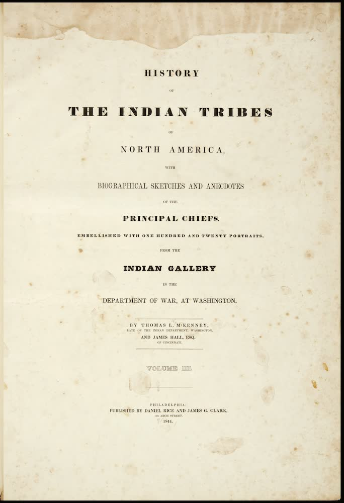 Aquatint & Lithography - History of the Indian Tribes of North America Vol. 3
