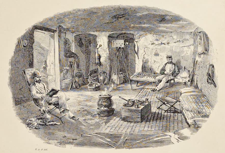 History of the Recent Discoveries at Cyrene - Interior of Our Tomb of Residence (1864)