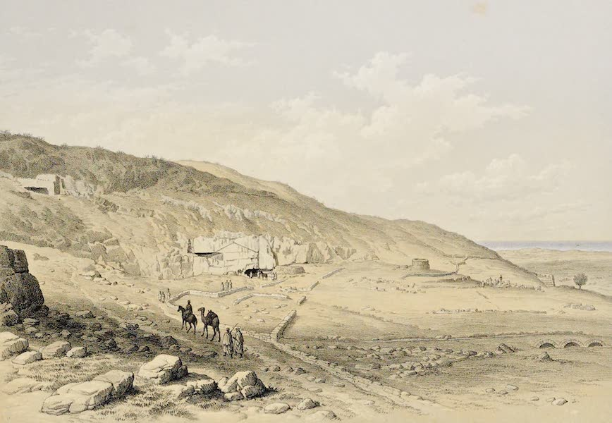 History of the Recent Discoveries at Cyrene - Western Hill of Cyrene with Entrance to the Fountain of Apollo (1864)