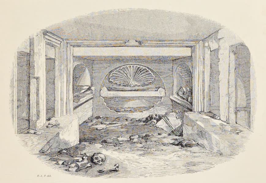 History of the Recent Discoveries at Cyrene - Interior of a Tomb in the Northern Necropolis (1864)