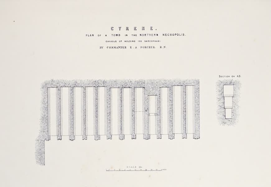 History of the Recent Discoveries at Cyrene - Cyrene - Plan of a Tomb in the Northern Necropolis [I] (1864)