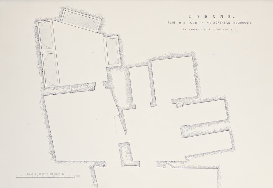 History of the Recent Discoveries at Cyrene - Cyrene - Plan of a Tomb in the Northern Necropolis [II] (1864)
