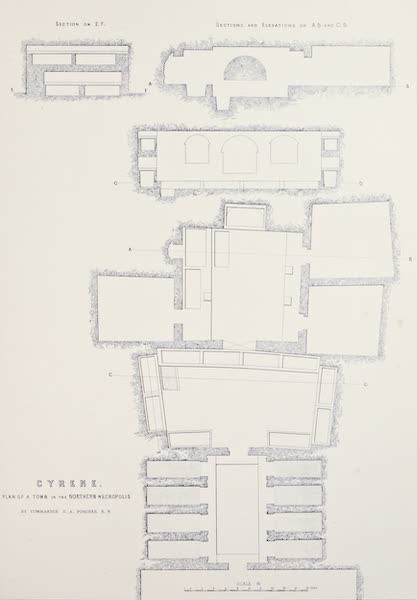 History of the Recent Discoveries at Cyrene - Cyrene - Plan of a Tomb in the Northern Necropolis [IV] (1864)