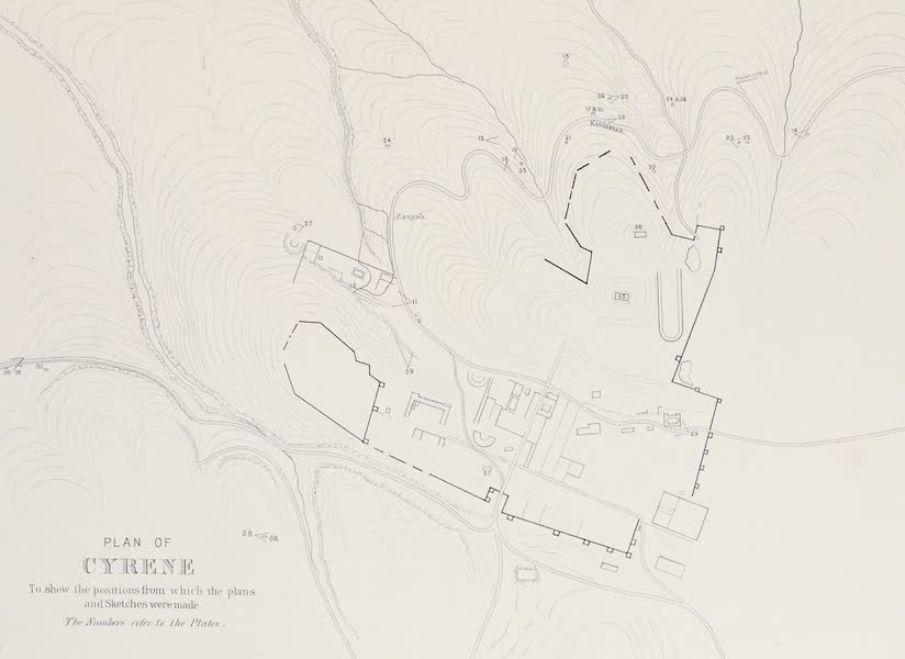 History of the Recent Discoveries at Cyrene - Plan of Cyrene [II] (1864)