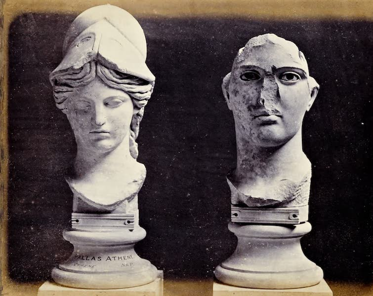 History of the Recent Discoveries at Cyrene - Minerva and a Male Head (1864)