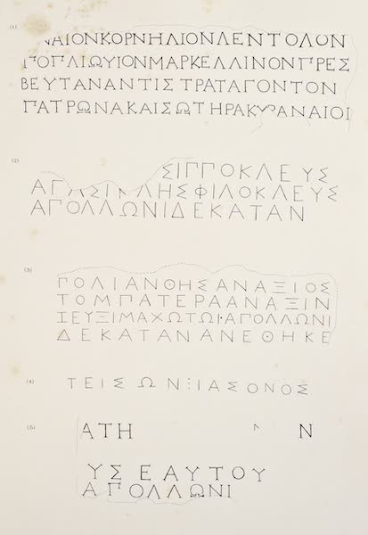 History of the Recent Discoveries at Cyrene - Cyrene Inscriptions [I] (1864)