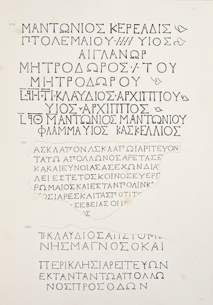 History of the Recent Discoveries at Cyrene - Cyrene Inscriptions [VIII] (1864)