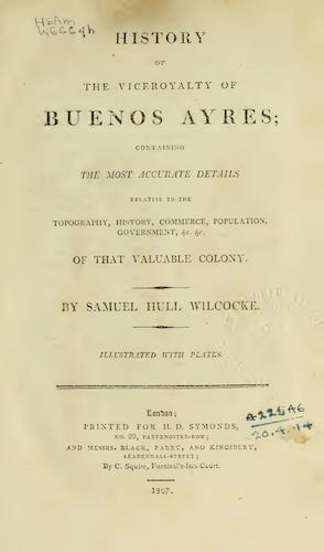 Aquatint & Lithography - History of the Viceroyalty of Buenos Ayres