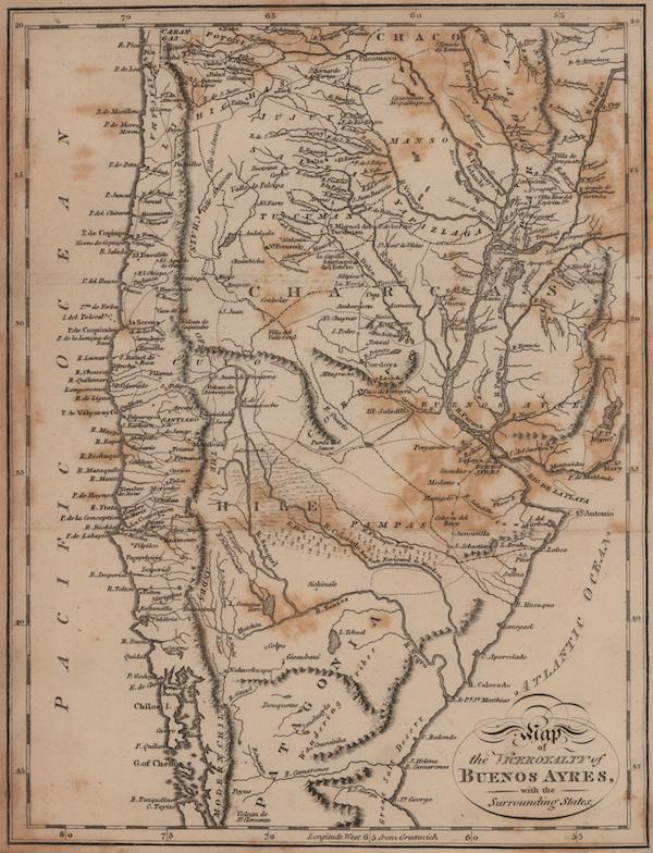History of the Viceroyalty of Buenos Ayres - Map of the Viceroyalty of Buenos Ayres, with the Surrounding States (1807)