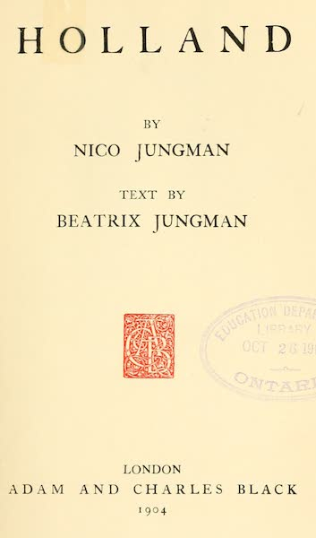 Holland, by Nico Jungman - Title Page (1904)