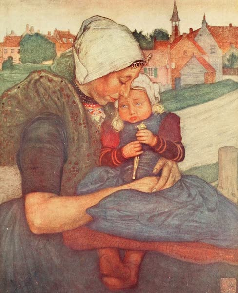 Holland, by Nico Jungman - A Mother and Child of Axel (1904)