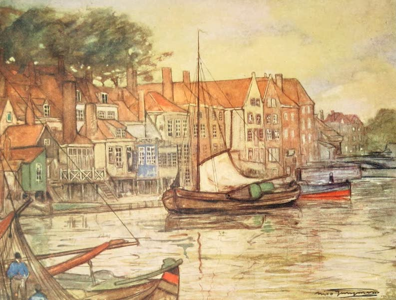 Holland, by Nico Jungman - A Canal at Middelburg (1904)