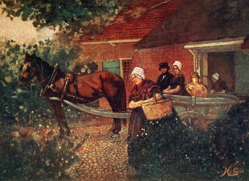 Holland, by Nico Jungman - A Walcheren Milk-cart (1904)