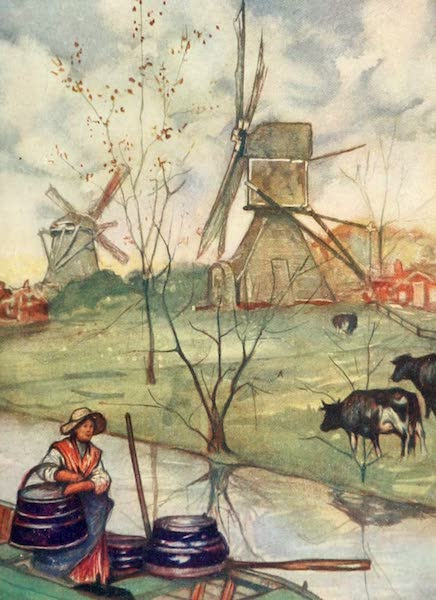 Holland, by Nico Jungman - The Little Water-mill (1904)