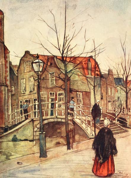 Holland, by Nico Jungman - Vrouw Jutte Land, Delft (1904)