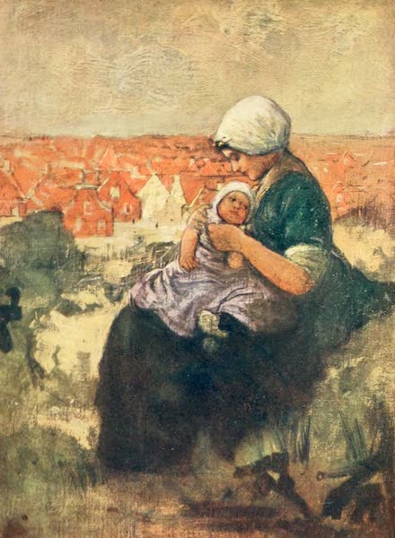 Holland, by Nico Jungman - Mother and Child of Scheveningen (1904)