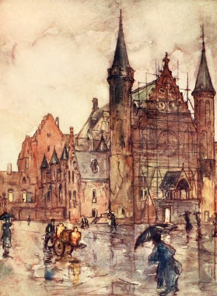 Holland, by Nico Jungman - The Binnenhof, the Hague (1904)