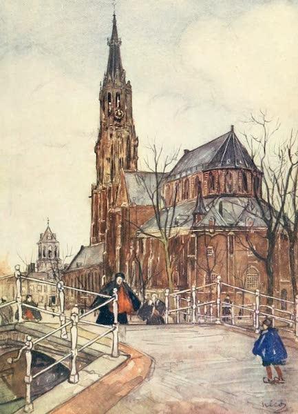 Holland, by Nico Jungman - The Nieuwe Kerk, Delft (1904)