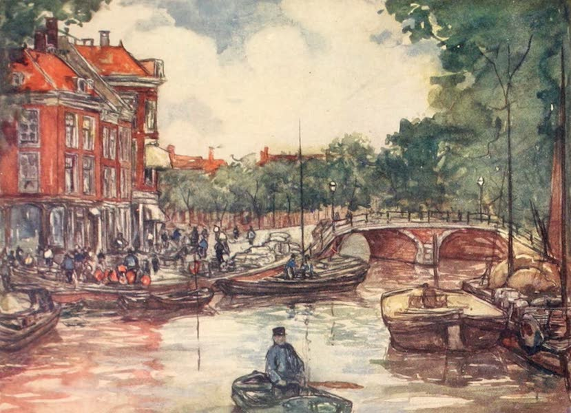 Holland, by Nico Jungman - The Fish-bridge, Leiden (1904)