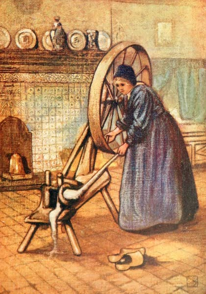 Holland, by Nico Jungman - A Laren Spinning-wheel (1904)